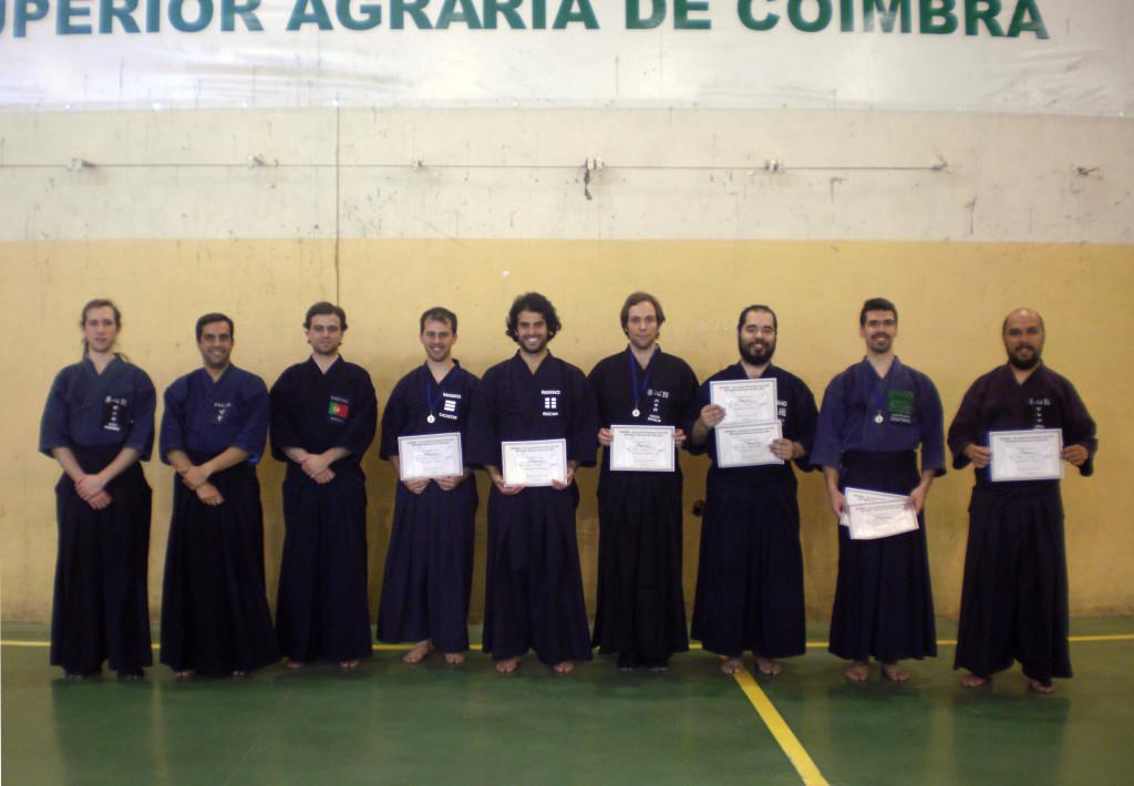 Árbitros e vencedores do Taikai Nacional de Jodo 2014